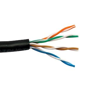 FeedbackAV 50-Foot CAT5e Network Cable - Black