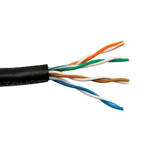 FeedbackAV 7-Foot CAT5e Network Cable - Black