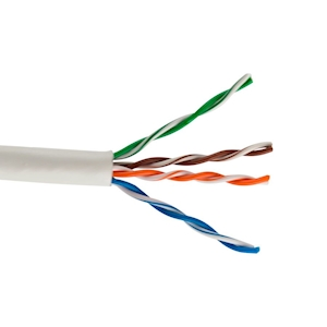 FeedbackAV 10-Foot CAT5e Network Cable - White