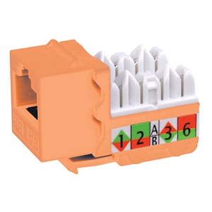 FeedbackAV 90-Degree Cat5e Keystone Insert - Orange