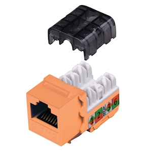 FeedbackAV 90-Degree Cat6 Keystone Insert - Orange