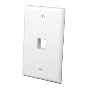 FeedbackAV Single Port Keystone Plate - White