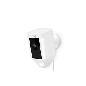 RING SPOTLIGHT CAM WIRED WHT