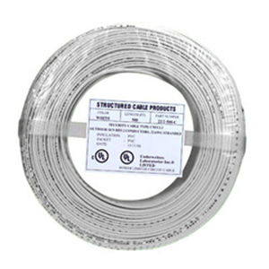 SCP#2C/22 AWG SOLID PVC WHT