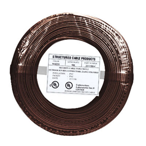 SCP 4C/22 AWG SOLID PVC BRN