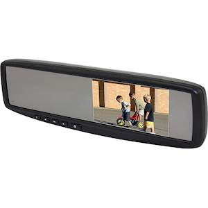 "Accele RVM430T 4.3"" Rear View Widescreen LCD Clip on Mirror w/Temperature Gauge"