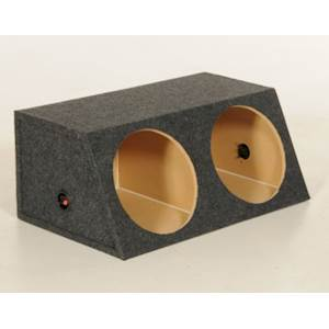 """QPower - Dual 10"""" Sealed Angled Subwoofer Box"""