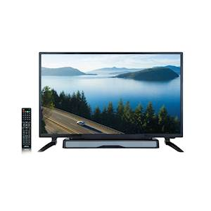 "AXESS TV1704-32 32"" HD TV with External Soundbar Speaker, SD Card, AC Power, HDMI port, Remote Control"