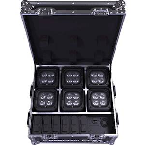 CHAUVET DJ Freedom Flex H4 IP Kit with Six Lights and Charging Case