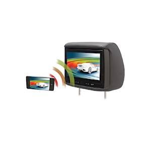 "Chameleon 9"" LCD Headrest W/ Wireless Screencasting And 3 Color Covers"