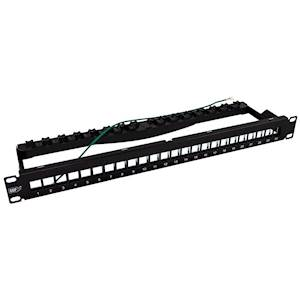24 Port Unloaded 10GBaseT Shielded Patch Panel