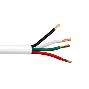 4C/22 AWG STRANDED PLENUM Security Alarm Cable WHITE- 500 FT BOX