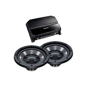 KENWOOD AMP/SUB PACKAGE 350W