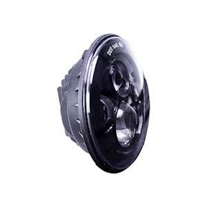 "Motorcycle 7"" Round Black Front 6-LED Headlight"