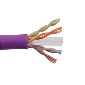 SCP CAT6 UTP Plenum Purple Cable - 1000'
