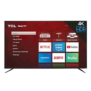 TCL 4-Series 55-Inch 4K HDR Roku Smart TV - 120Hz CMI