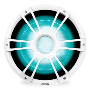 Fusion® Signature Series 3 12-Inch Sports Marine Subwoofer with CRGBW - White - 1400W