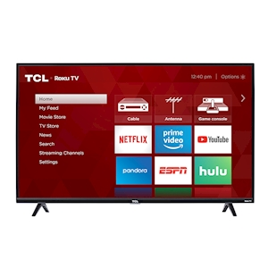 TCL 43-Inch 4K UHD HDR LED Roku Smart TV - 120Hz CMI