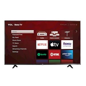 TCL 50-Inch 4K UHD HDR LED Roku Smart TV - 120Hz CMI