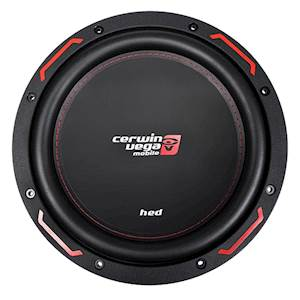 Cerwin Vega HED Series 10-Inch Dual 4 Ohm Subwoofer - 1200W
