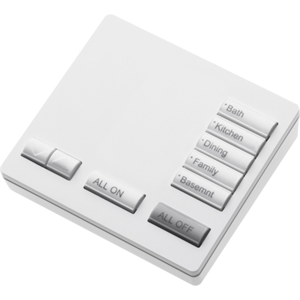 LUTRON* RR2 5 BUTTON PAD-WHITE