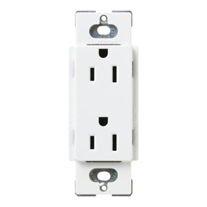 LUTRON 15A SOCKET SNOW WHITE